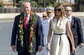 Image result for photos of Trump getting off plane in Hawaii