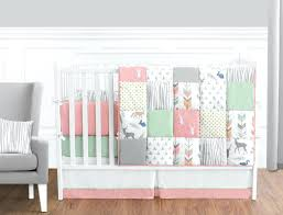 navy and pink bedding c gray baby sets grey mint deer woodland girl nursery art room