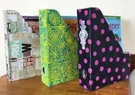 Cardboard Magazine Holders Delectable Tutorial MixedMedia Magazine Holders Cloth Paper Scissors