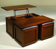 coffee table with storage stools milano round chrome 4 ottoman full size