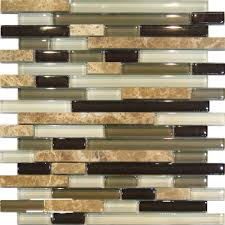 Green Tile Backsplash Kitchen Sample Marble Green Brown Glass Linear Mosaic Tile Backsplash