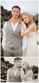 Handsome Grey Vest Suit For Groom Wedding Day Beach Wedding By