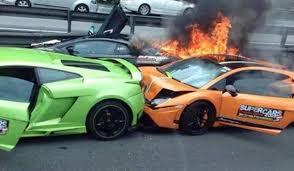 Lamborghini Crash Involves Two Gallardos And An Aventador