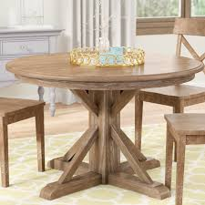 Nuneaton Solid Wood Dining Table Reviews Birch Lane