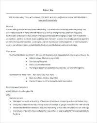 Resume Format For Mba Example Graduate Resume Free Download Resume