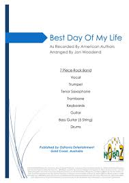 Download Best Day Of My Life 7 Piece Horn Chart Sheet