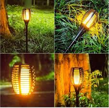 Landscape Lights That Look Like Flames Details About 2 Pack Solar Torch Light Flickering Dancing Flame Garden Waterproof Yard Lamp
