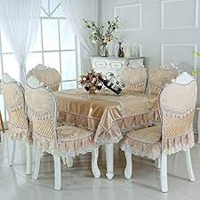 huashaothe dining table cloth upholstery chair pad kit home lace table cloth fabrics cotton linen fresh