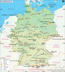 germany map printable and detailed map of germany