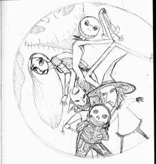 Nightmare Before Christmas Coloring Pages Printable Part 1 Free