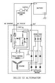 onewirealternator 2 Wire Alternator Diagram delco si schematics 2 wire alternator wiring diagram