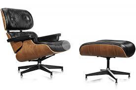 knoll eames chair. Replica Lounge Eames Chair \u0026 Ottoman - Aniline Leather Black/Walnut Knoll Base N