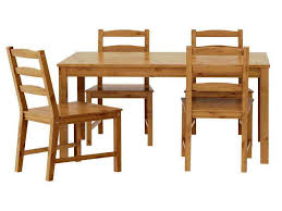 image of wood ikea kitchen chairs table dinner set