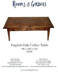 coffee tables rooms gardens english oak