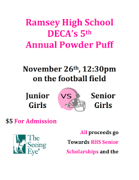 powder puff football flyers ramsey chamber of commerce 5th annual powderpuff football game