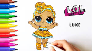 Lol Surprise Luxe Dolls Coloring Pages Coloring Books For