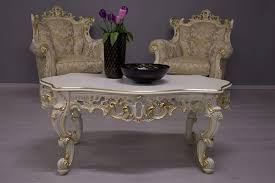 coffee table with carved wooden