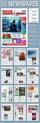 Newspaper Article Template For Pages One Page Newspaper Template Ijbcr Co