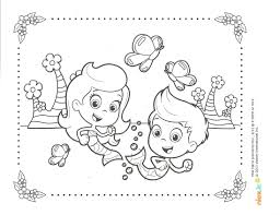 Bubble Guppies Springtime Coloring Page