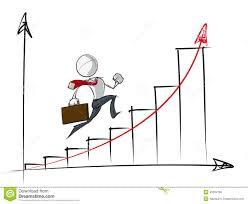 carta de negocios hombres de negocios simples carta de crecimiento exponencial