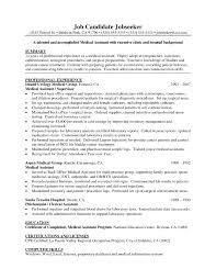 Pediatric Medical Assistant Resume Pediatric Medical Assistant Resumes Commonpenceco Example Resume For 9