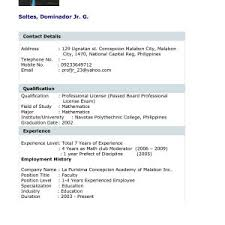 Example Resume For Fresh Graduates With No Experience Save Example ...