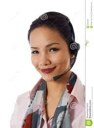 asian girl working as customer service representative royalty asian girl working as customer service representative