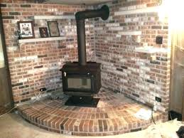 wood fireplace with gas starter pipe stove and connector installed for outdoor burning