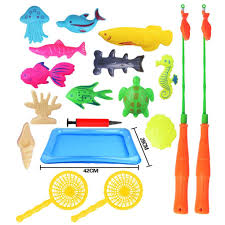 Green Magnet Fishing Light Review Amazon Com 18 Pcs Magnetic Fishing Toys Game Set For Kids