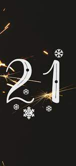 Happy New Year 2021, sparks, shine ...
