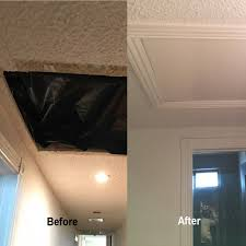 drywall repair before and after by wall works