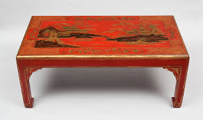 chinoiserie red lacquered coffee table chinoiserie red lacquered coffee table