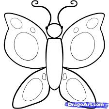 Small Picture How to Draw a Butterfly For Kids Step by Step Animals For Kids