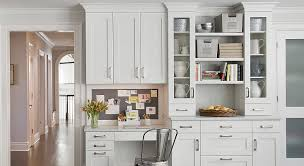 white desk in kitchen. Delighful White Stunning Kitchen Office With Offwhite Cabinets Carrara Marble  Countertops And White Desk In Kitchen I