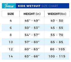 Seavenger Wetsuit Size Chart Kids 3mm Scout Wetsuit Ocean Blue