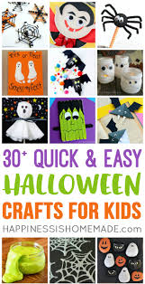 These quick and easy Halloween kids crafts can be made in under 30 minutes  using items Affiliate Links