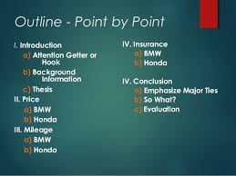 overview comparison and contrast block and point by point method outline