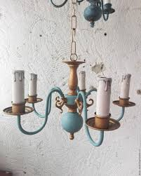 brass chandelier country provence vintage leninstyle