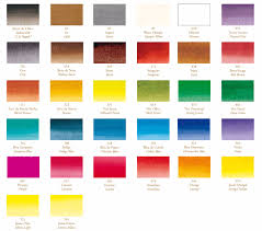 Sennelier Ink Color Chart Sennelier Drawing And Calligraphy Inks Colour Chart