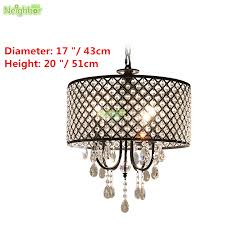 modern crystal pendant light black round metal ceiling lamp chandelier lighting