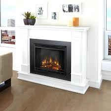 full image for electric fireplace a center with glass embers costco real flame white wood wall