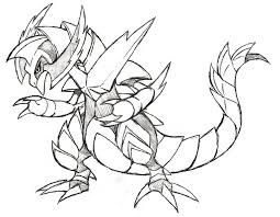 Mega Haxorus Pokemon Coloring Page - Free Printable Coloring Pages for Kids