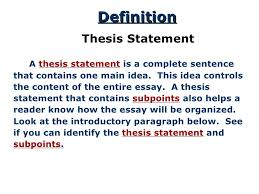 definition of a thesis statement for an essay writing tips thesis statements center for writing studies