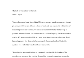 the role of masculinity in macbeth gcse english marked by  document image preview