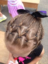 Little Girl Hairstyle Cute Hair For Dance Recital ダンスヘア