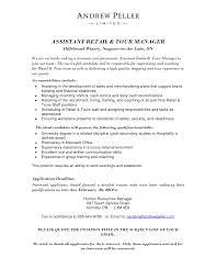 Assistant Manager Description For Resume Best Retail Assistant