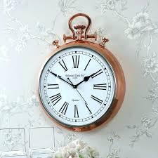 vintage industrial wall clock large pocket watch wall clock fob watch wall clock large copper fob