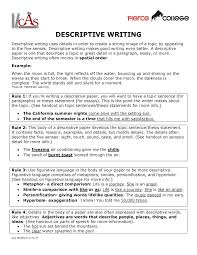 Descriptive Essay Topic Ideas Descriptive Writing Eng 101 English Studocu