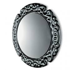 baroque round wall mirror
