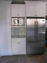 Kitchen Microwave Built In Microwave Cabinet Our Fridge And Microwave Are Kitchen